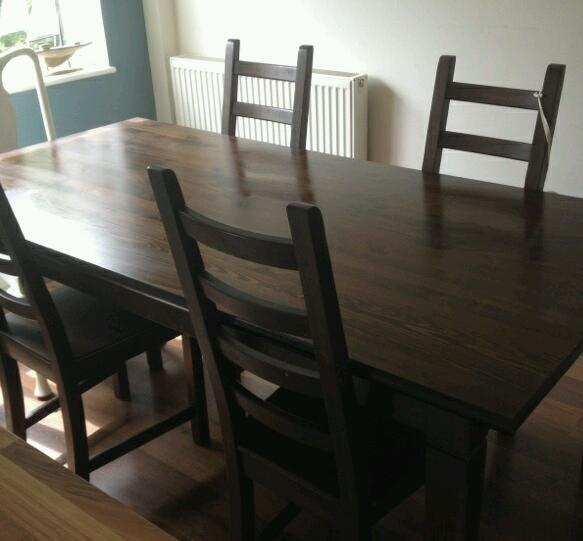 Wooden Dining Table And 4 Chairs In Edinburgh Gumtree