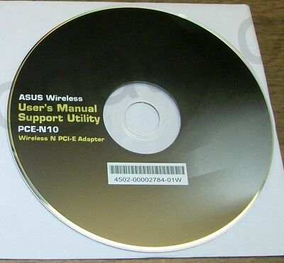 - Original Driver CD Disc & Quick Start Guide for Asus PCE-N10 PCIe Wireless NIC
