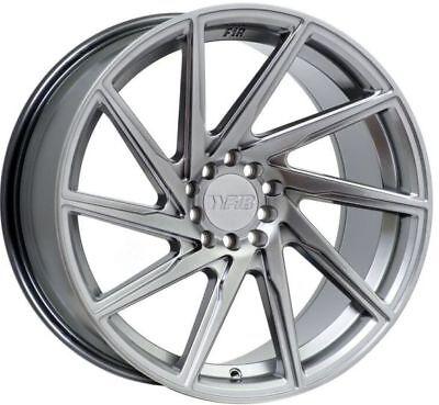 F1R F29 17X8.5 5X100/114.3mm +38 Hyper Black Fits Civic Accord Tiburon Rsx