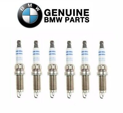 For BMW E82 E88 F10 F13 135i 535i X1 Set of 6 Spark Plugs Genuine 12120037582
