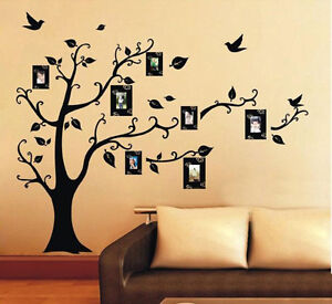 Home-Decor-Photo-Frame-Black-Tree-Removable-Decal-Room-Wall-Sticker-Vinyl-Art