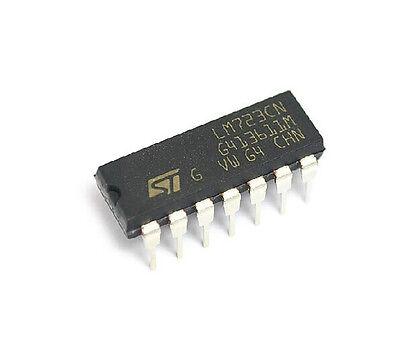 10pcs Lm723cn Lm723 Dip-14 Ic Adj. Voltage Regulator 2-37v New Good Quality