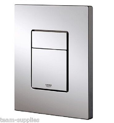 Grohe Skate Cosmopolitan WC Dual Flush Button Chrome Wall Plate 38732 000 Square