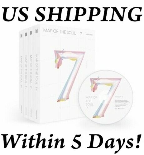 US SHIPPING BTS-[Map Of The Soul 7] CD+BTSPoster+Book+Lyric+Card+Post+Paper+etc