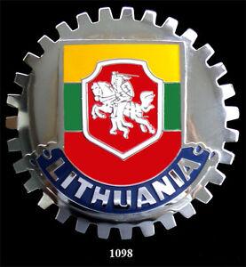 CAR-GRILLE-EMBLEM-BADGES-LITHUANIA-FLAG