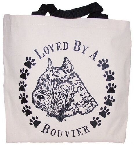 Loved By A Bouvier Tote Bag New  MADE IN USA