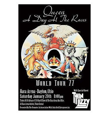Queen / Thin Lizzy 1977 Dayton Concert Poster