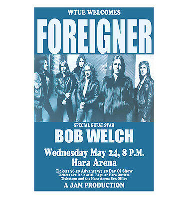 Foreigner 1978 Dayton Concert Poster