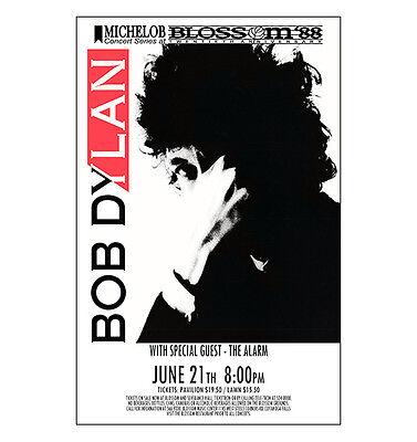 Bob Dylan 1988 Cleveland Concert Poster