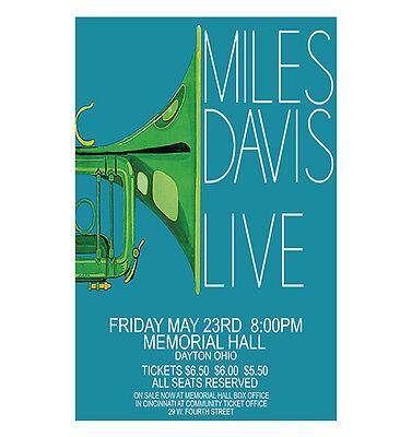 Miles Davis 1975 Dayton Concert Poster