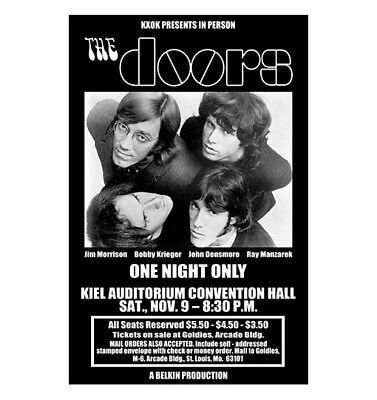 Doors 1968 St Louis Concert Poster