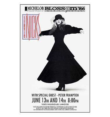 Stevie Nicks / Fleetwood Mac 1986 Cleveland Concert Poster