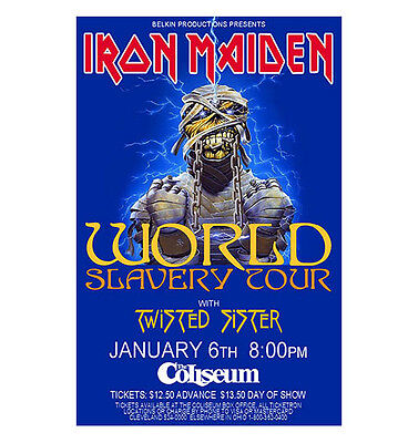 Iron Maiden / Twisted Sister 1985 Cleveland Concert Poster