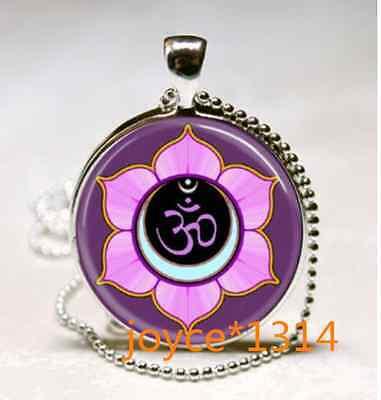 Om Pendant   Om Symbol Necklace   Namaste Yoga Jewelry  Tibet Silver  939