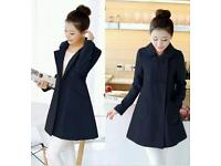 Ladies Lightweight Navy Blue Coat for Spring, size 10-12