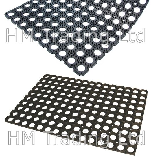 Easy Clean Non Slip Large 100% Rubber Front Back Door Entrance Floor Mat Outdoor