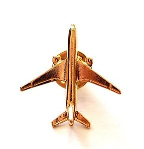 Gold Plated Boeing 777 Airplane Lapel Pin - Tie Pin BADGE $9.99