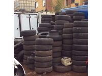 TYRES FOR SALE £5 EACH when the minimum of 50 units are purchased