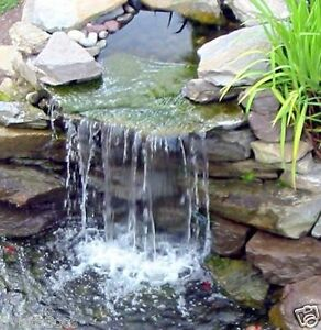 15 pond spillway waterfall box garden water filter pool for Garden pond waterfalls for sale