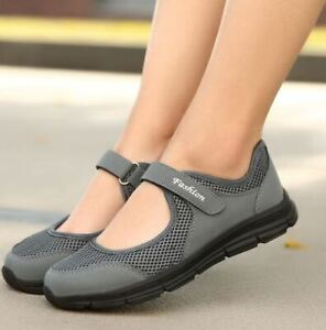 Women's Flat Mary J Shoes, Mesh Fabric Breathable in 4 colours