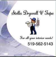 Stella drywall and tape