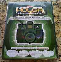 Brand New Holga (by Lomography) Camera Kit - Camera, Film, Tape