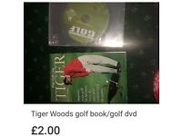 Golf performance dvd & golf tiger woods book