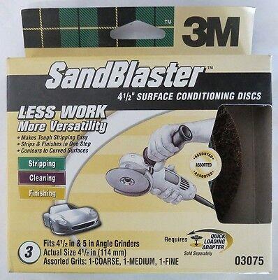 3m 03075 Sandblaster Auto Surface Conditioning Discs 3pk Usa