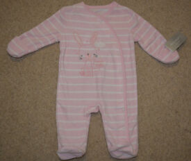BNWT Primark Early Days pink body playsuit 0-3 M