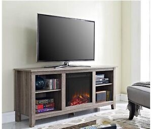 """58"""" Television Stand with Electric Fireplace"""