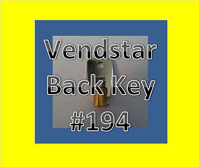 Vendstar 3000 4000 6000 Candy Machines Keys For Vending 194 Back Key