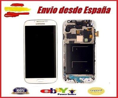PANTALLA COMPLETA LCD + TACTIL MARCO SAMSUNG S4 GT-I9505 PANTALLA BLANCA BLANCO