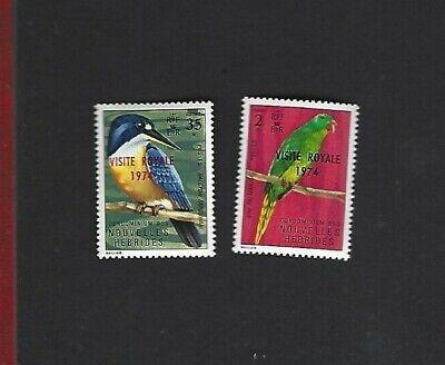 New Hebrides FR. sc#200-1 (1974) Complete MNH