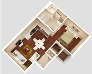 1 bedroom condo in airdrie available Sep 15 $1300/month