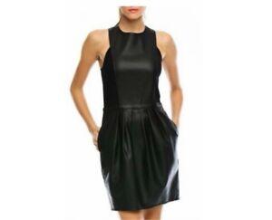 ARMANI/x faux leather black dress