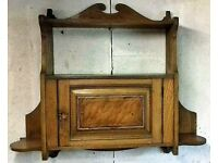 Antique Walnut and mixed wood wall cabinet