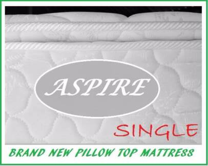BRAND NEW Single Size Pillow Top Mattress FREE DELIVERY WARRANTY