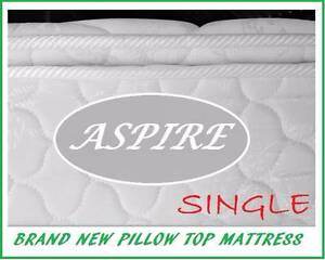 BRAND NEW Single Size Pillow Top Mattress FREE DELIVERY  WARRANTY New Farm Brisbane North East Preview