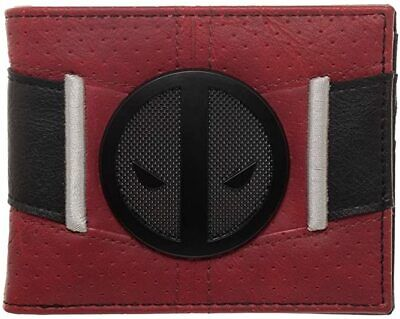 Deadpool Uniform BiFold Wallet, Marvel Anti-Hero Costume Style Wallet,ID Holder