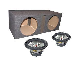 2-KICKER-CVR124-COMPVR-12-1600W-Car-Audio-Subwoofers-Dual-12-Vented-Sub-Box