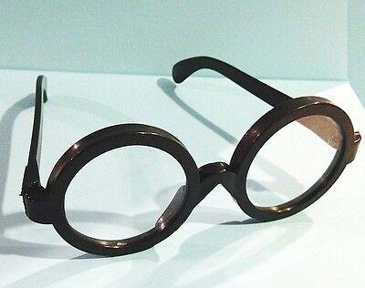 lot of 3 Boy WIZARD Style Black Round Rim Geek Nerd Costume Glasses Clear Lenses](Nerd Glasses Bulk)
