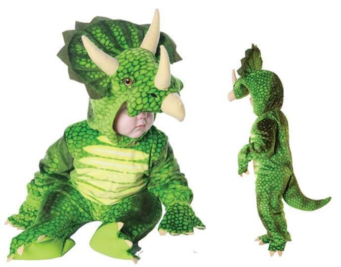 Green Triceratops Plush Baby Costume