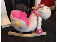Rock my baby horse rocker.