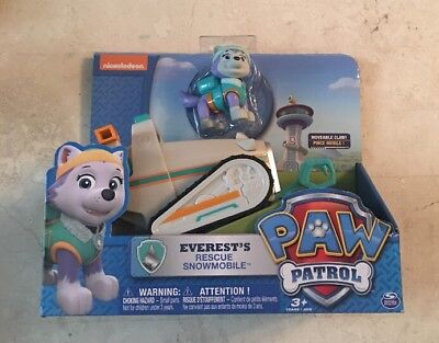 Paw Patrol Everests Rescue Snowmobile   Vehicle And Figure   New   From Tv Show
