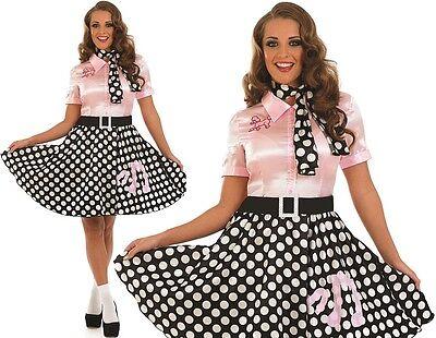 Damen 50er Jahre 1950er Jahre Rock n Roll Maskenkostüm 50er Pudel Outfit Neu FS