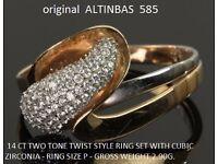 ORIGINAL ALTINBAS RING 14 ct