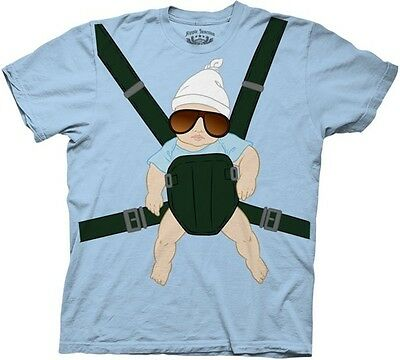 Hangover Movie T-shirt (The Hangover Baby Carrier Funny Movie Licensed Adult T)
