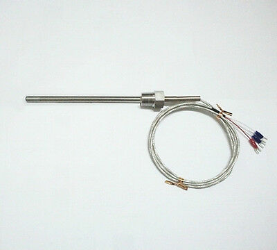 Rtd Pt100 Ohm Probe Sensor L 300mm Pt Npt 12 Thread With Lead Wire