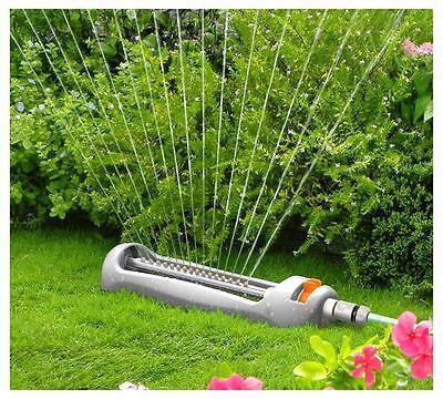 Quantum Garden-Compact Oscillating Sprinkler-Water Garden Pipe Tube - White Line