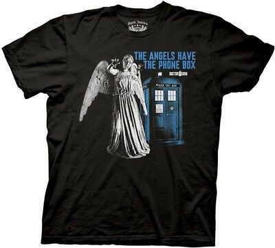 Doctor Who Tardis The Angels Have the Phone Box T-Shirt, NEW